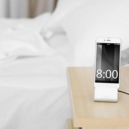 Utilice un despertador inteligente